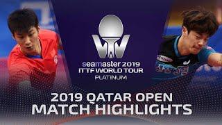 【Video】XUE Fei VS CHO Seungmin, vòng 128 2019 Bạch kim Qatar mở