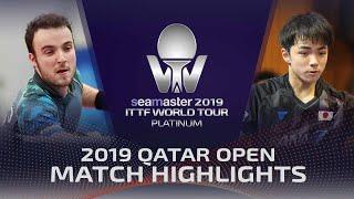【Video】GAUZY Simon VS KIZUKURI Yuto, vòng 128 2019 Bạch kim Qatar mở