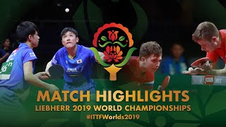 【Video】IVONIN Denis・SIDORENKO Vladimir VS HARIMOTO Tomokazu・KIZUKURI Yuto, vòng 64 Giải vô địch bóng bàn thế giới 2019