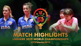 【Video】CHEN Meng・Zhu Yuling VS BUSATLIC Belma・HADZIAHMETOVIC Emina, vòng 64 Giải vô địch bóng bàn thế giới 2019