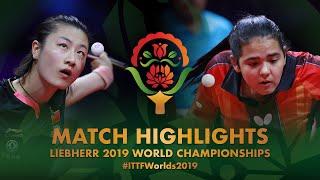 【Video】DING Ning VS DIAZ Adriana, vòng 32 Giải vô địch bóng bàn thế giới 2019