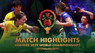 【Video】XU Xin・LIU Shiwen VS MAHARU Yoshimura・ISHIKAWA Kasumi, chung kết Giải vô địch bóng bàn thế giới 2019