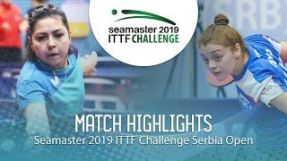 【Video】KHUSSEINOVA Gulchekhra VS JOKIC Tijana,  2019 ITTF Thử thách Serbia mở