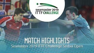【Video】KLEIN Dennis VS ZELINKA Jakub,  2019 ITTF Thử thách Serbia mở
