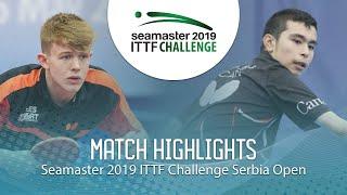 【Video】JARVIS Tom VS HAZIN Jeremy, vòng 16 2019 ITTF Thử thách Serbia mở