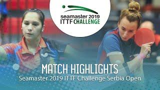 【Video】MALANINA Maria VS MORALES Judith, vòng 64 2019 ITTF Thử thách Serbia mở