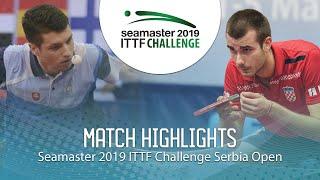 【Video】ARTEMENKO Nikita VS PUCAR Tomislav, vòng 64 2019 ITTF Thử thách Serbia mở