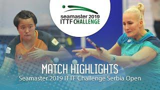 【Video】BALAZOVA Barbora VS MAK Tze Wing, vòng 32 2019 ITTF Thử thách Serbia mở