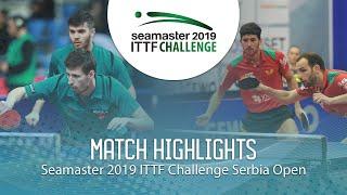 【Video】ECSEKI Nandor・SZUDI Adam VS CARVALHO Diogo・GERALDO Joao, bán kết 2019 ITTF Thử thách Serbia mở