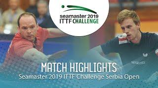 【Video】DRINKHALL Paul VS LANDRIEU Andrea, bán kết 2019 ITTF Thử thách Serbia mở