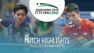 【Video】TANVIRIYAVECHAKUL Padasak VS TIAN Ye,  Thử thách ITTF 2019 tại Slovenia