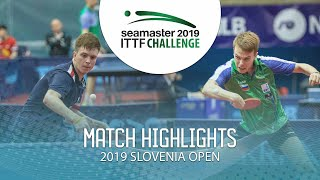 【Video】SIDORENKO Vladimir VS CVETKO Tilen,  Thử thách ITTF 2019 tại Slovenia