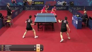 【Video】AI Fukuhara・MIMA Ito VS CHEN Meng・WuYang, vòng 16 GAC Nhóm 2015  Ba Lan mở