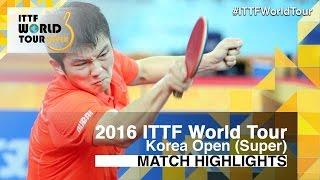 【Video】FAN Zhendong VS LEE Sangsu, vòng 16 2016 Hàn Quốc mở rộng