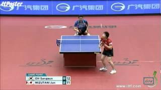 【Video】JUN Mizutani VS OH Sangeun, chung kết 2012  Nhật Bản mở rộng