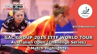 【Video】AI Fukuhara VS MOON Hyunjung, bán kết GAC Nhóm 2015  Australia Open