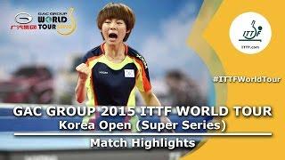 【Video】KASUMI Ishikawa VS CHOI Hyojoo, vòng 16 GAC Nhóm 2015  Hàn Quốc mở rộng