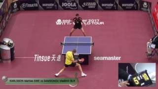 【Video】SAMSONOV Vladimir VS KARLSSON Mattias, vòng 32 2017 Seamaster 2017 Platinum, Qatar Open