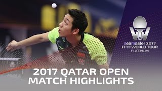 【Video】XU Xin VS FANG Bo, vòng 16 2017 Seamaster 2017 Platinum, Qatar Open