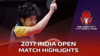 【Video】YUTO Muramatsu VS ACHANTA Sharath Kamal, vòng 16 2017 Seamaster 2017 Ấn Độ mở rộng