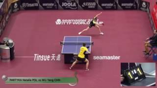 【Video】WuYang VS PARTYKA Natalia, vòng 32 2017 Seamaster 2017 Platinum, Qatar Open