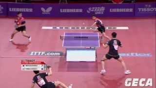 【Video】KAZUHIRO Chan・KENJI Matsudaira VS CHEN Chien-An・CHUANG Chih-Yuan, tứ kết LIEBHERR giải vô địch bóng bàn thế giới 2013