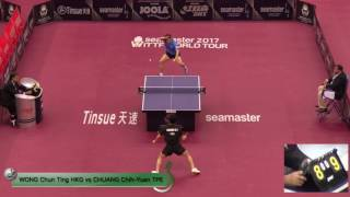 【Video】WONG Chun Ting VS CHUANG Chih-Yuan, vòng 16 2017 Seamaster 2017 Platinum, Qatar Open