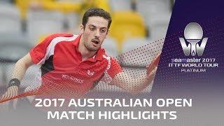 【Video】FREITAS Marcos VS YUYA Oshima, vòng 16 2017 Seamaster 2017 Platinum, Australian Open