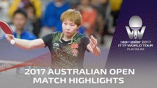 【Video】Zhu Yuling VS MIYU Kato, vòng 16 2017 Seamaster 2017 Platinum, Australian Open